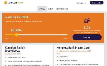 Komplett Bank kokemuksia ja esittely