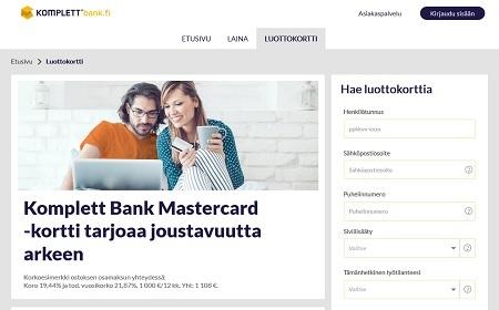 Komplett Bank luottokortti kokemuksia