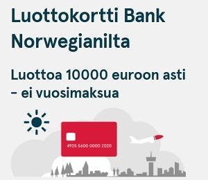 Norwegian luottokortti kokemuksia ja tiedot