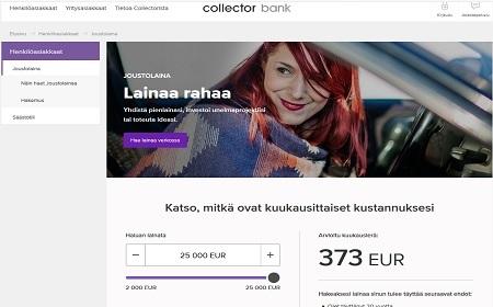 Collector Bank AB kokemuksia